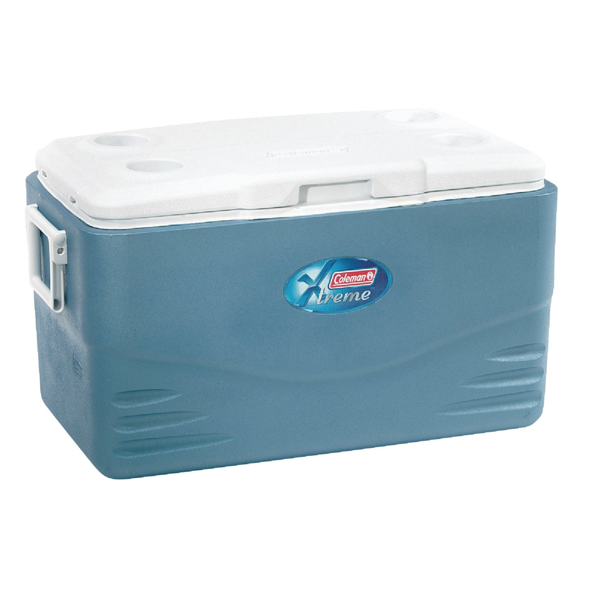 52QT BLUE/WHITE COOLER