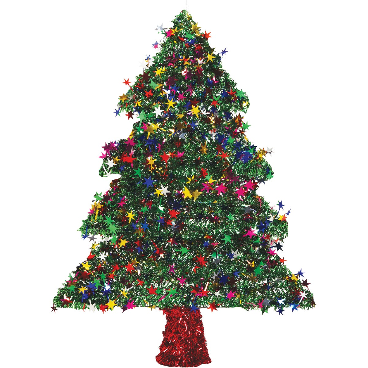 "18"" 2D GRN TINSEL TREE"