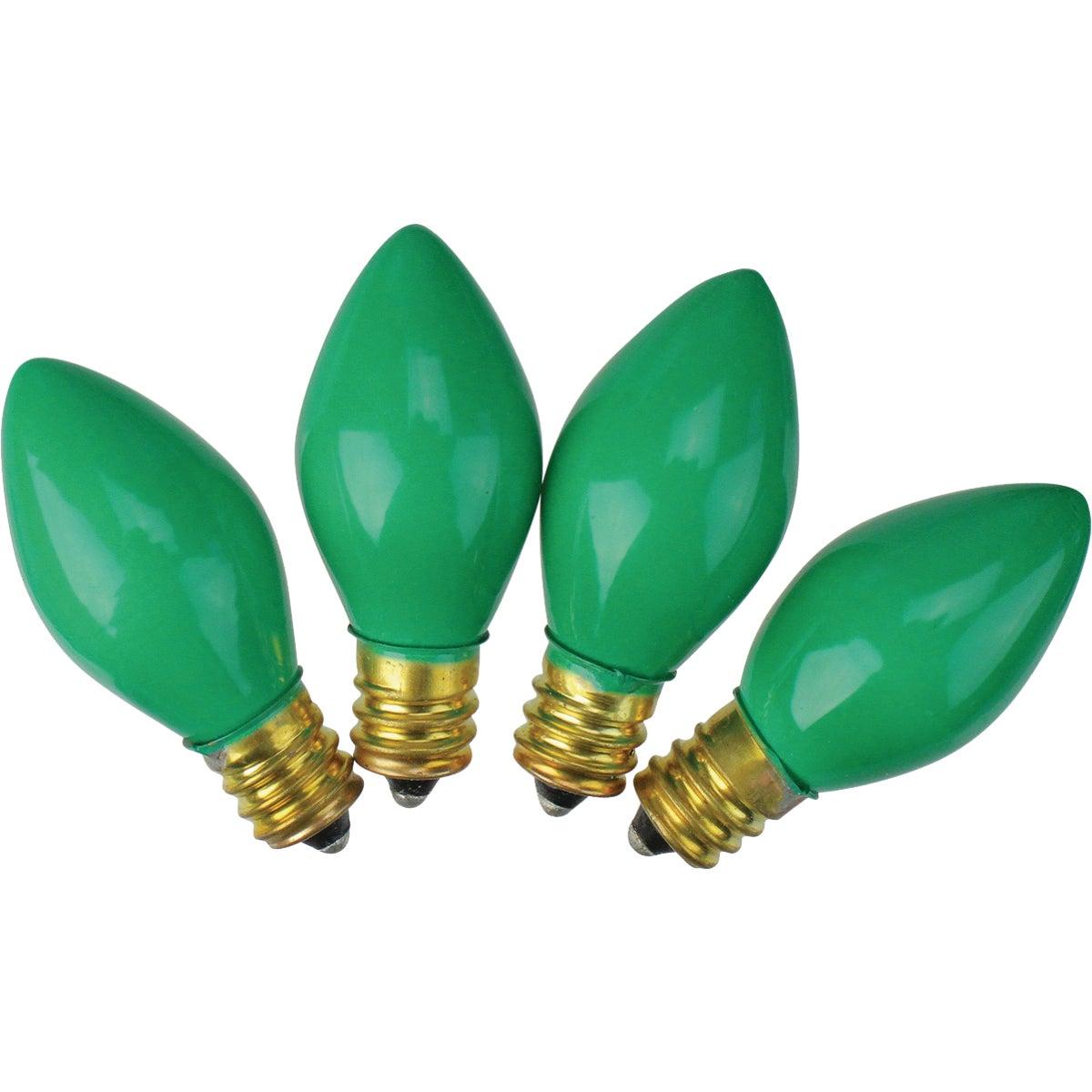 4PK C7 GREEN CERAM BULB
