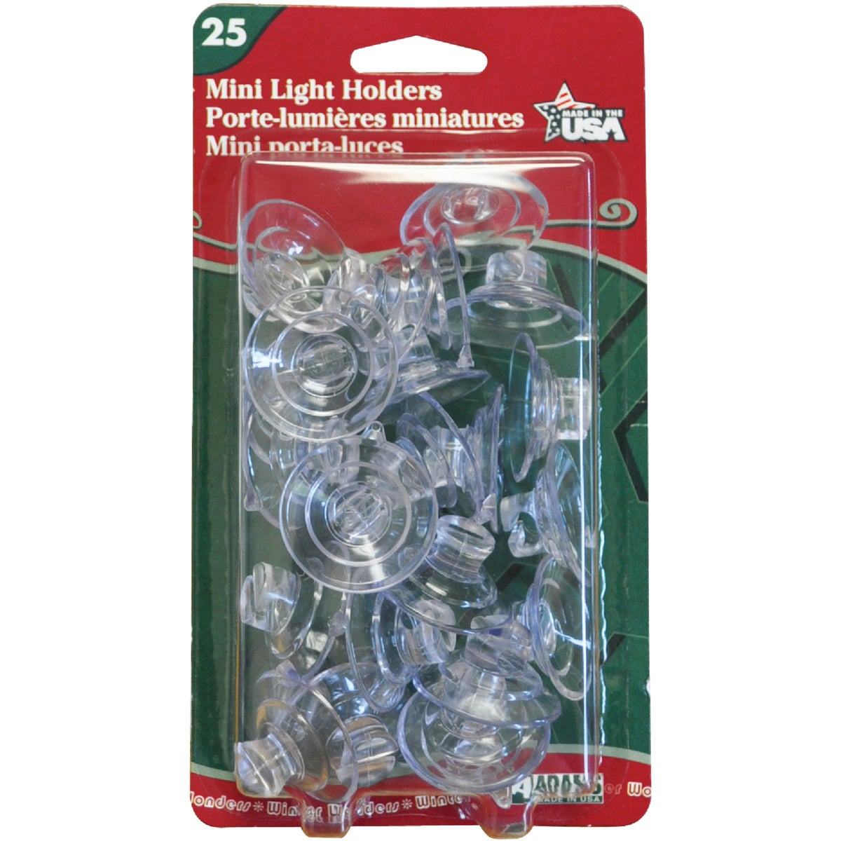 25PK LIGHT HOLDERS - 7501001040 by Adams Mfg/christmas