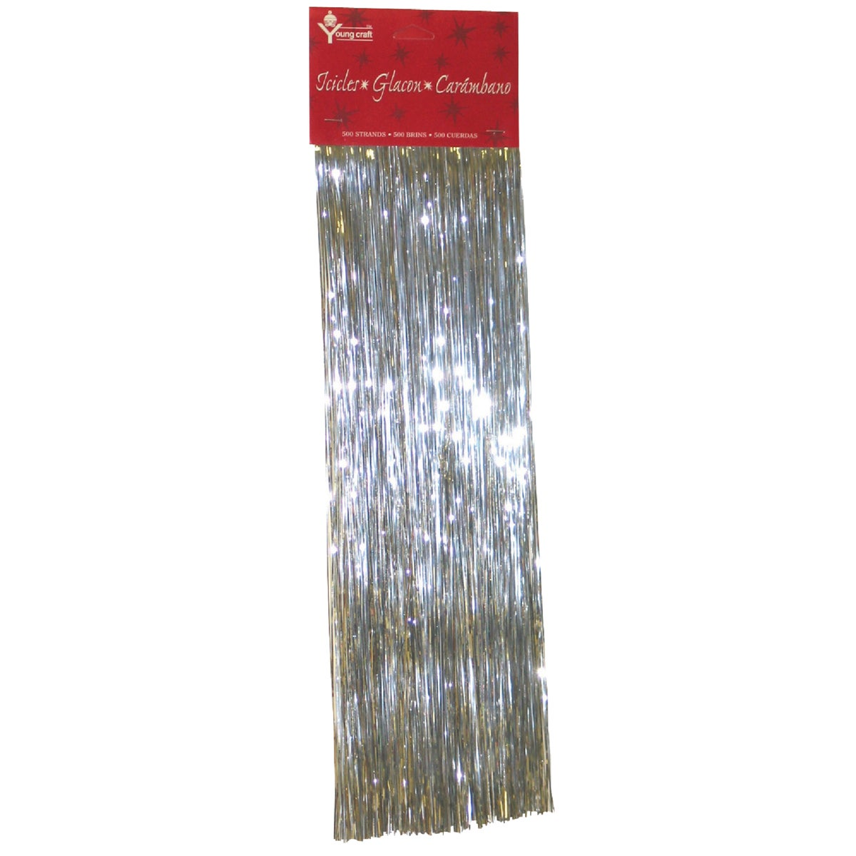 F C Young 600 STRND SILVER ICICLES 3630