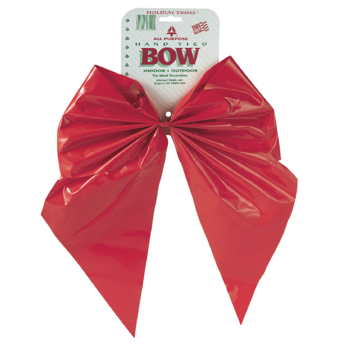 Holiday Trim 11X16 RED PLASIC BOW 7209
