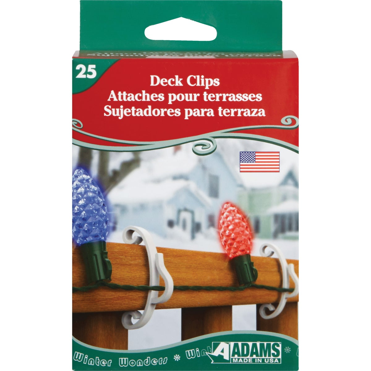 25PK DECK CLIP - 3210991040 by Adams Mfg/christmas