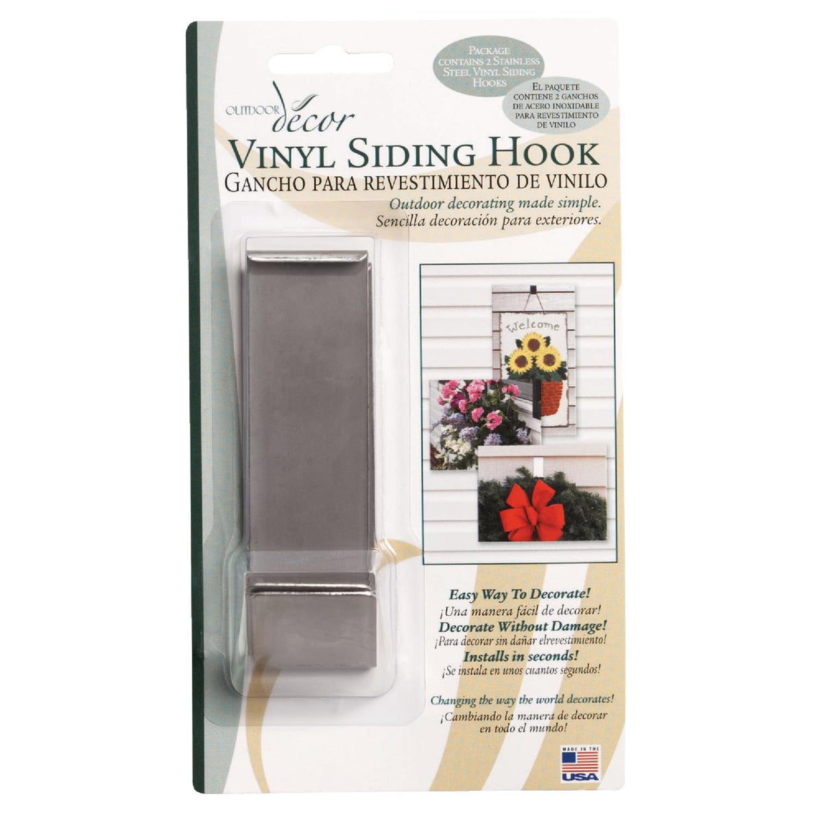 2PK VINYL SIDING HOOK - VSH05 by Bolster America Inc