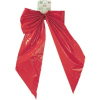 Holiday Trim 18X31 RED PLASTIC BOW 7257