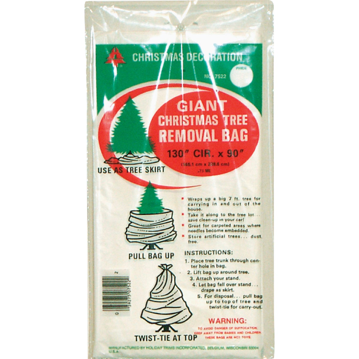GIANT TREE REMOVAL BAG - 7522 by Holiday Trims Inc
