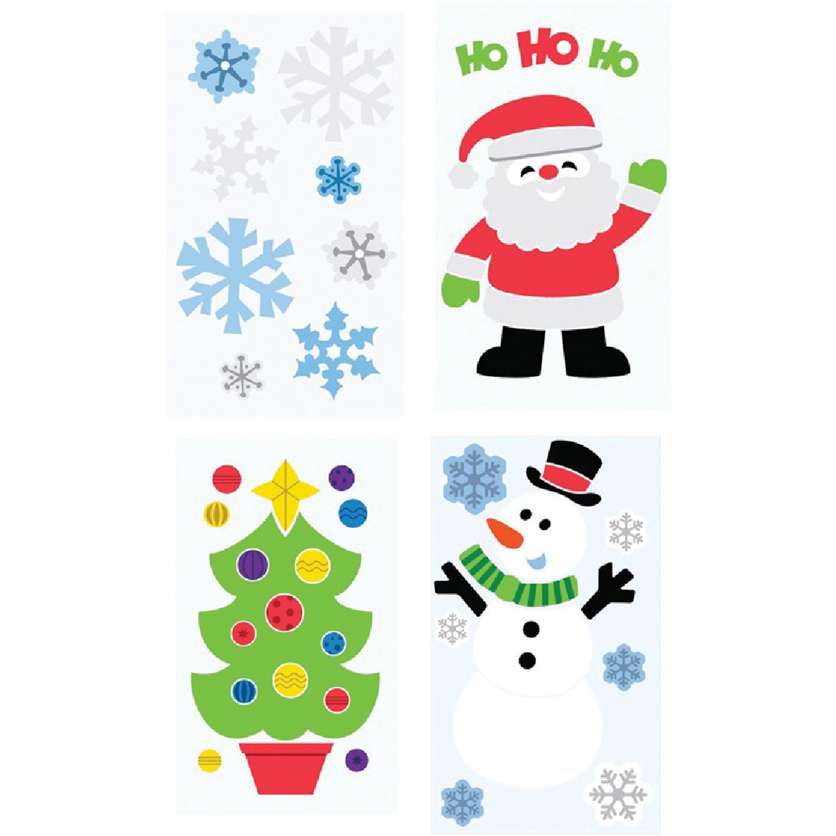 6 X 12 XMAS GEL CLING - 981160 by Berwick Offray Llc