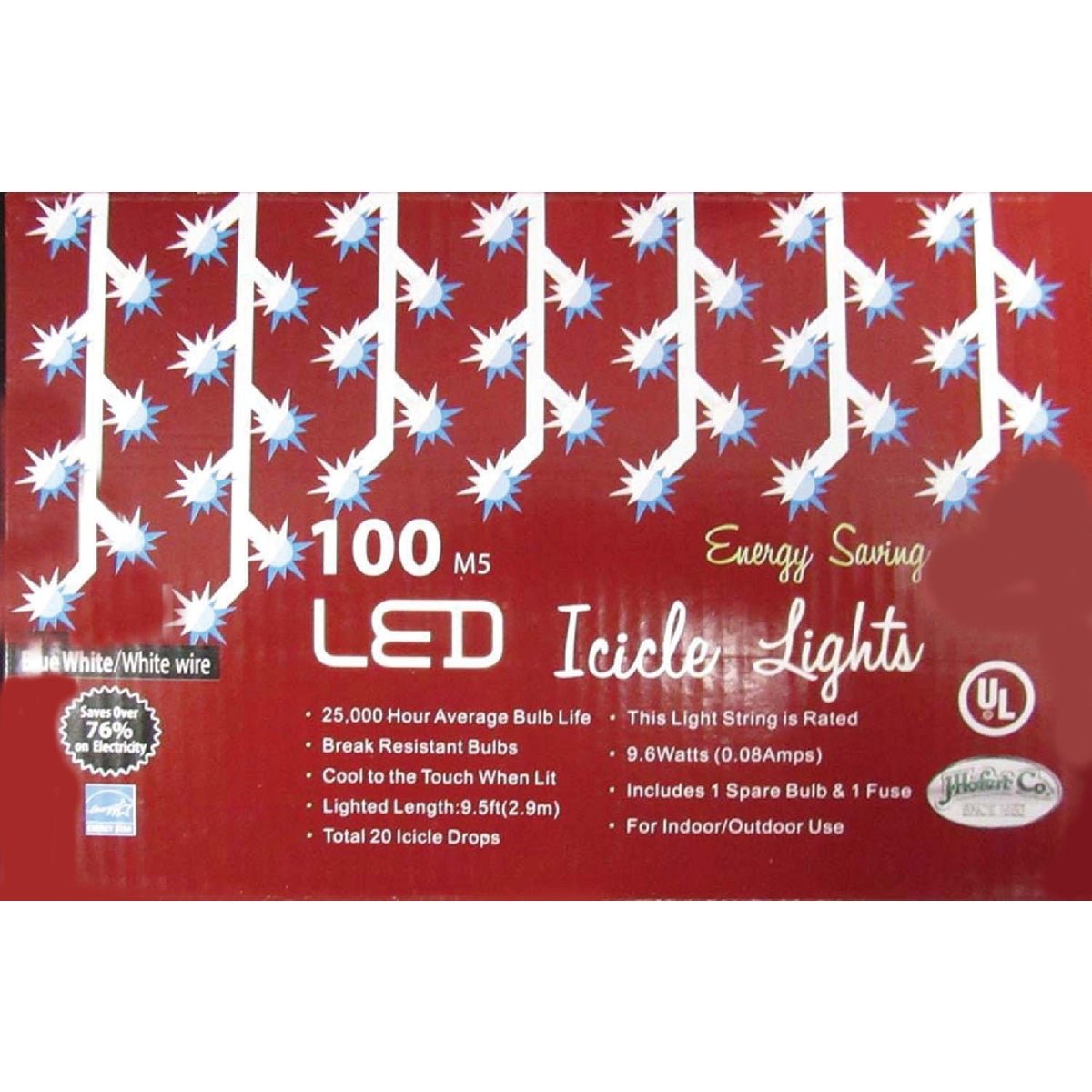 100 LED ICICLE LIGHTS - 2368-BC by J Hofert     Nanjing