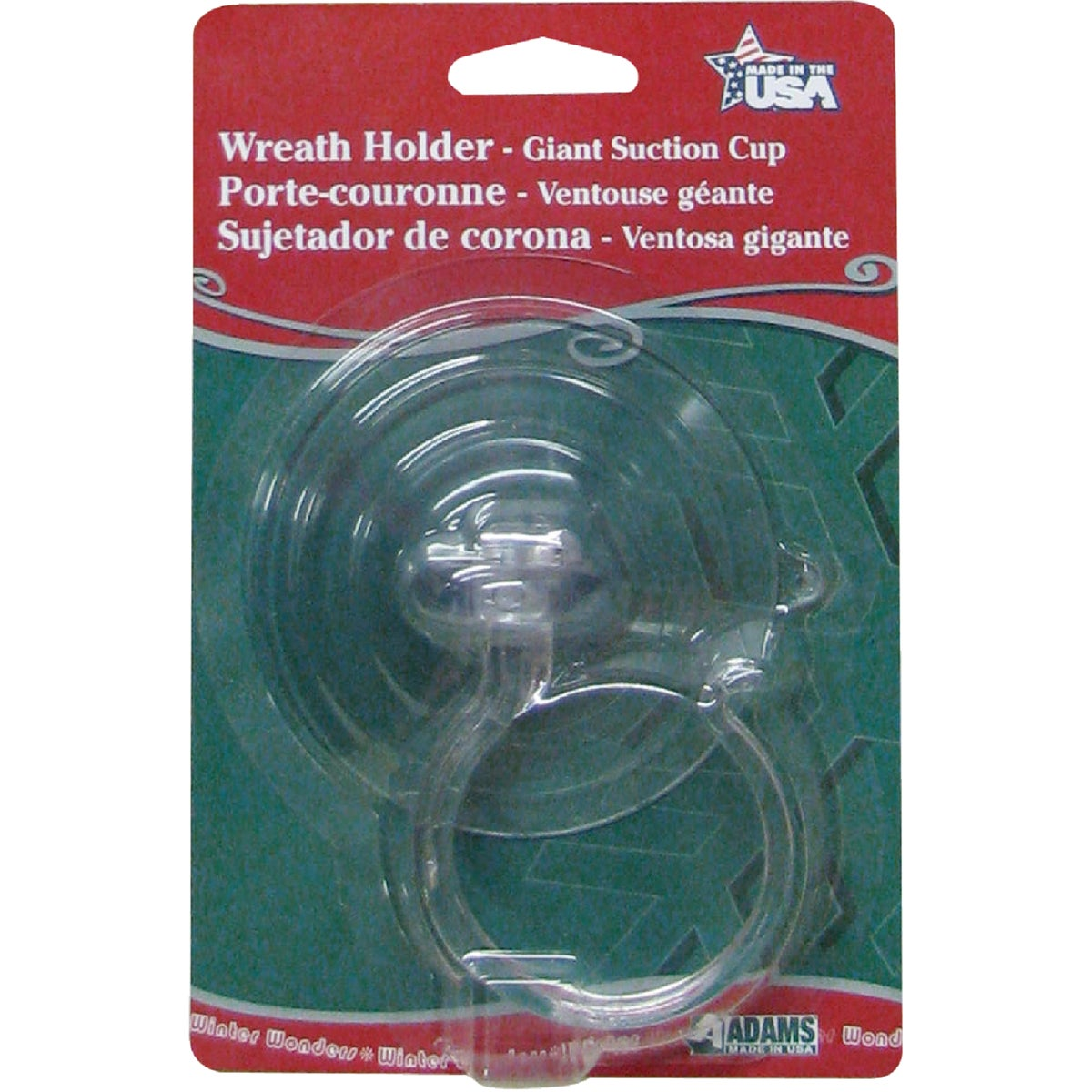 GIANT WREATH SUCTION CUP - 5750881040 by Adams Mfg/christmas