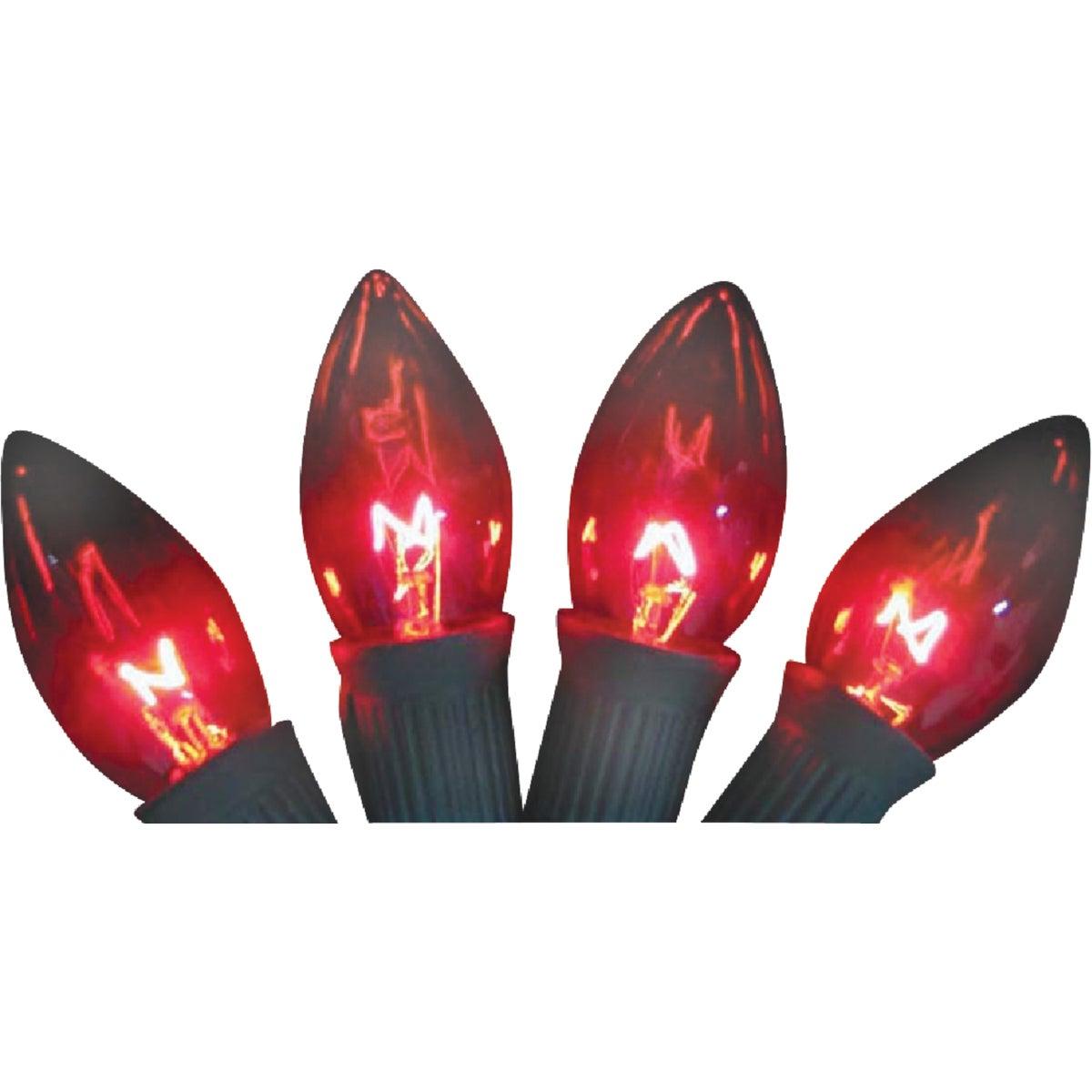 4PK C9 RED TRANS BULB