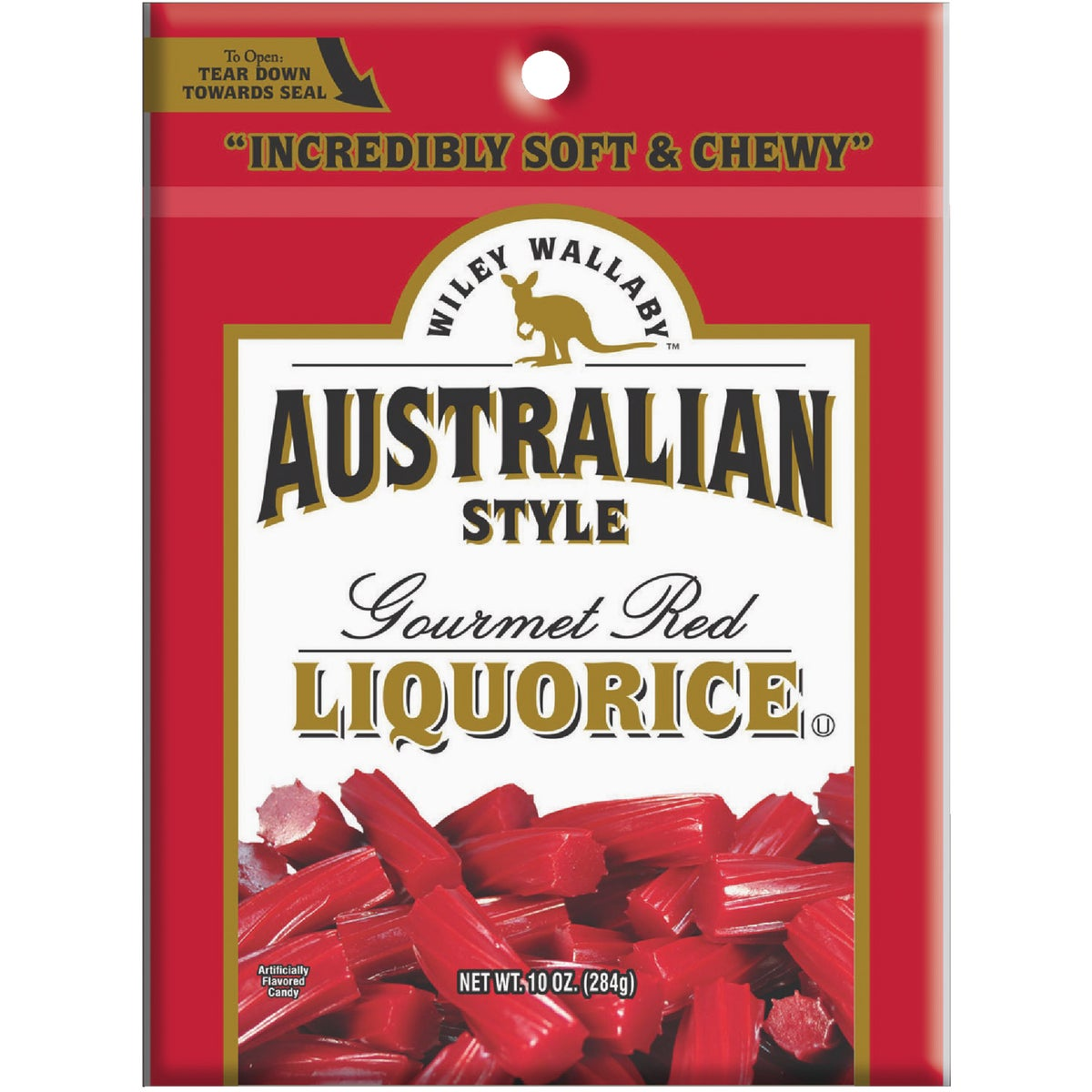 10OZ AUST RED LICORICE - 114571 by Liberty Distribution