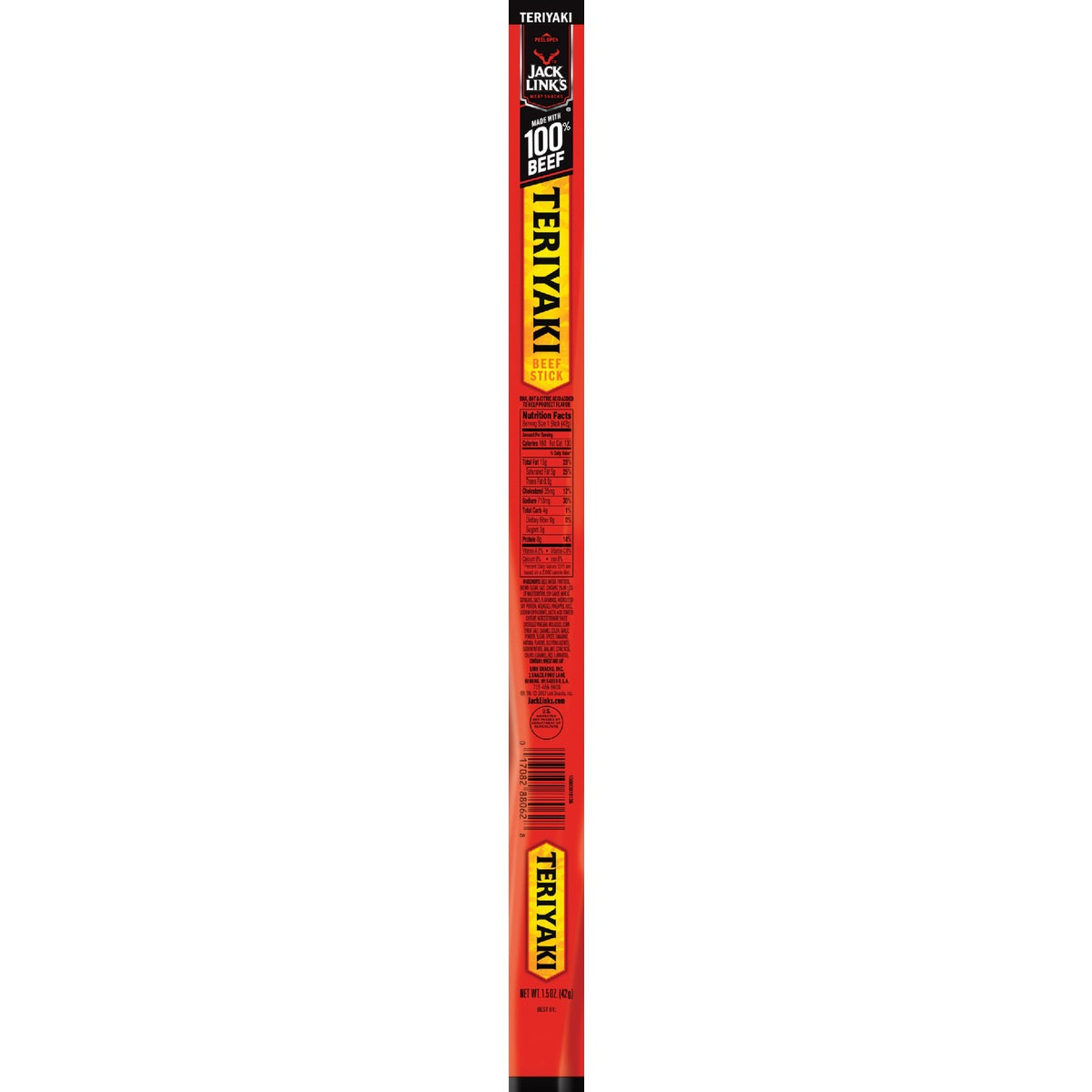 1.5OZ TERYAKI BEEF STICK - 88262 by Jack Links