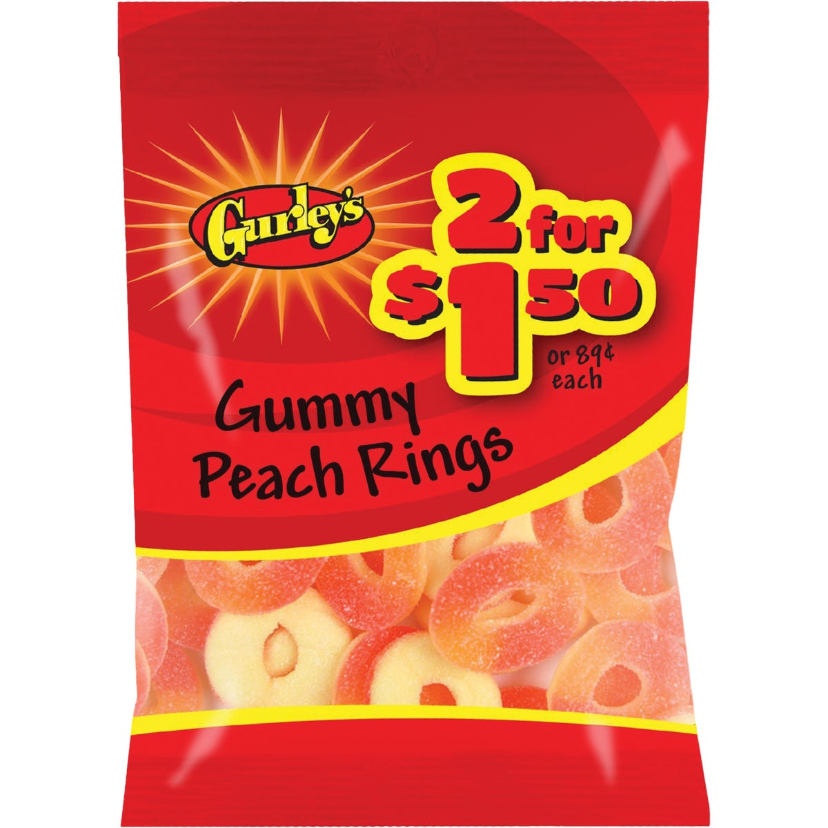 2.75OZ PEACH RINGS - 10131 by Farleys  Sathers