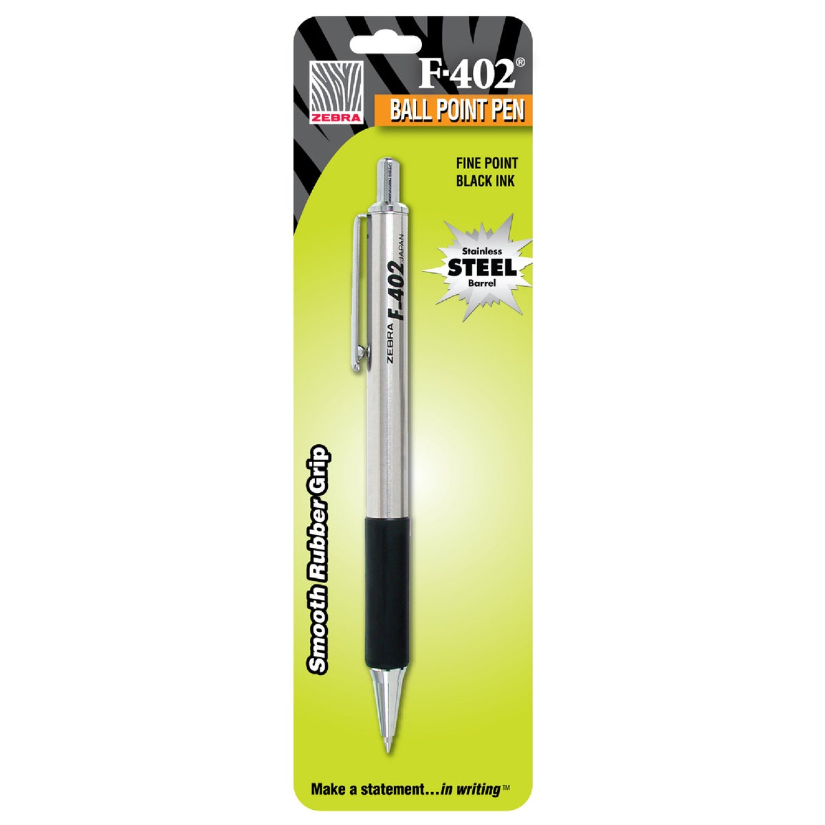 BLK STAINLESS STEEL PEN - 29211 by Zebra Pen Corp