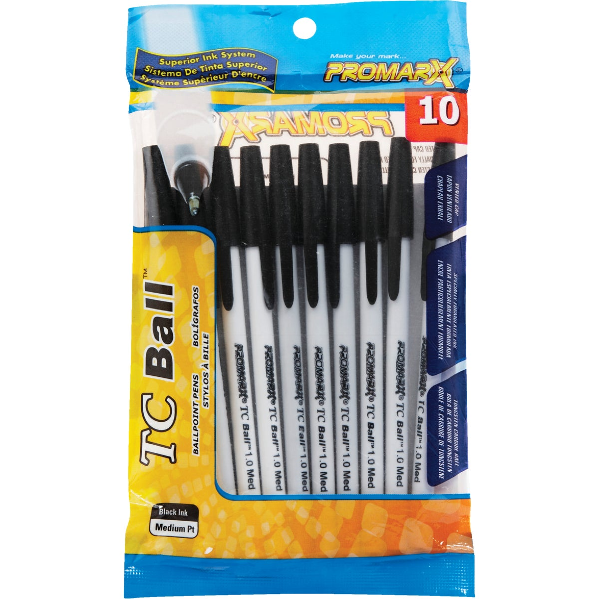 TC BALL STICK BLACK PENS - BP48 by Kittrich Corp