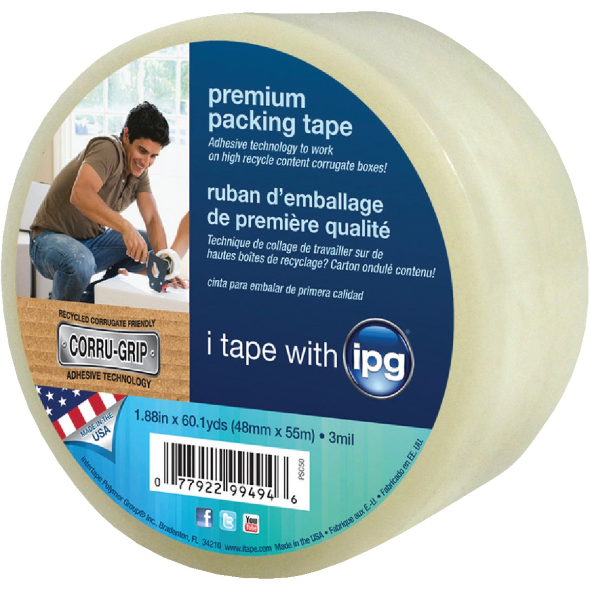 PREM  CLEAR PCKING TAPE - PSC50 by Intertape Polymer