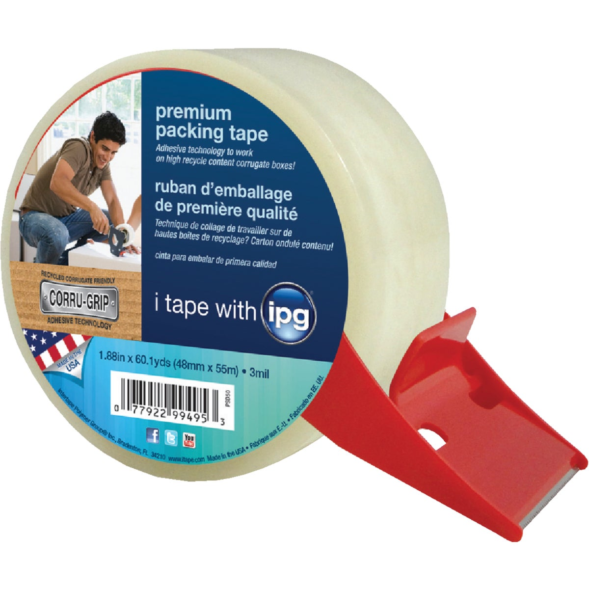 PREM CLR PCK TAPE W/DIS - PSD50 by Intertape Polymer