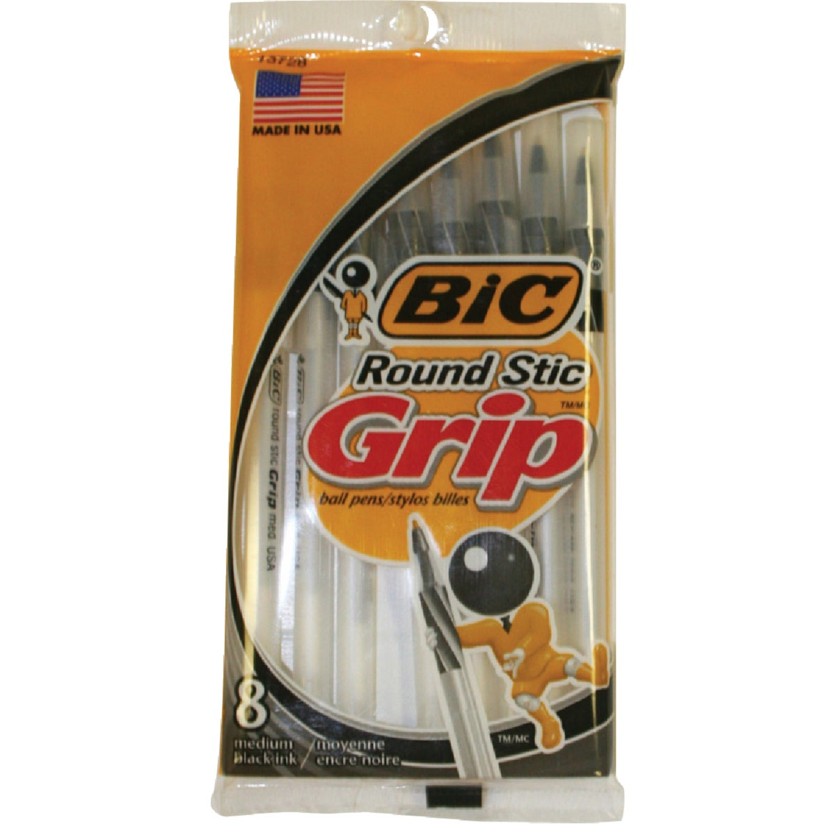 Bic Corporation 8PK BLACK RND STIC PEN GSMGP81-BLK