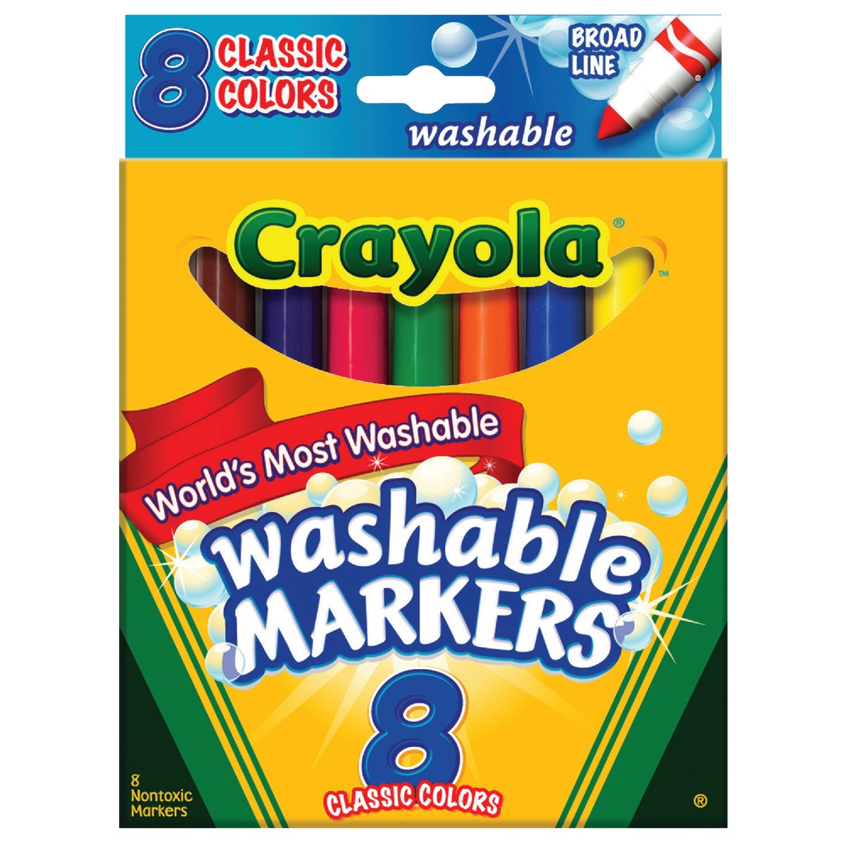 8CT COLOR MARKERS - 58-7808 by Crayola L L C