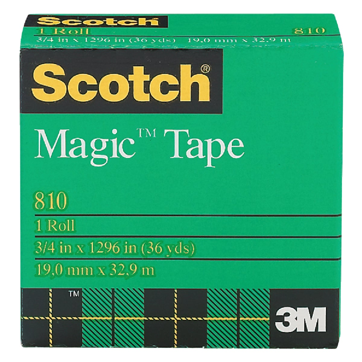 "3/4X1296"" MAGIC TAPE - 810 by 3m Co"
