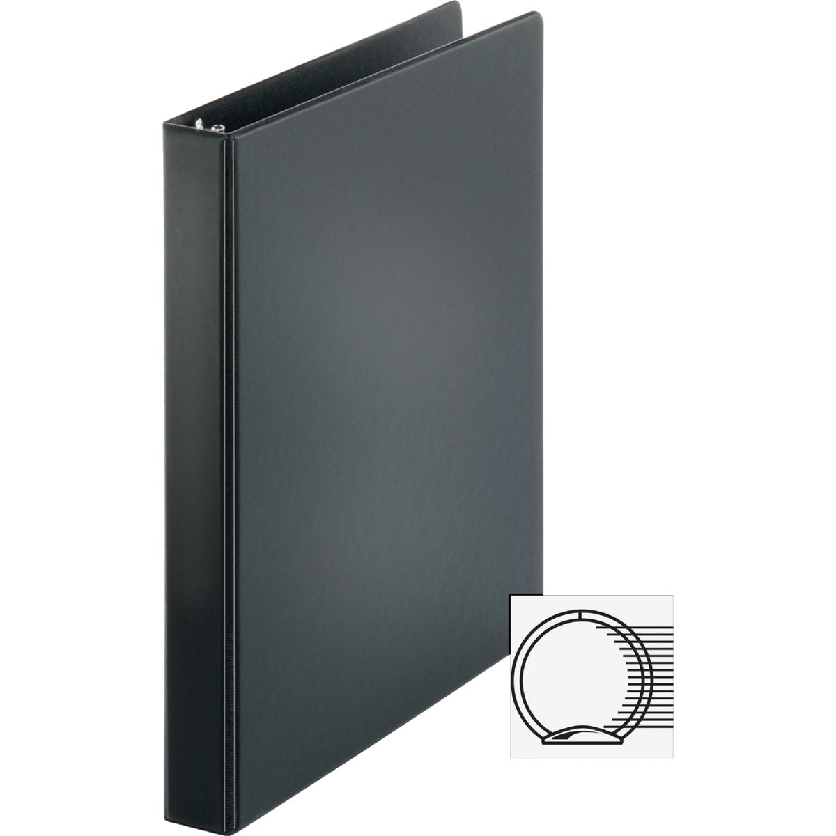 "1"" BLK RING BINDER - UNV31401 by United Stationers"