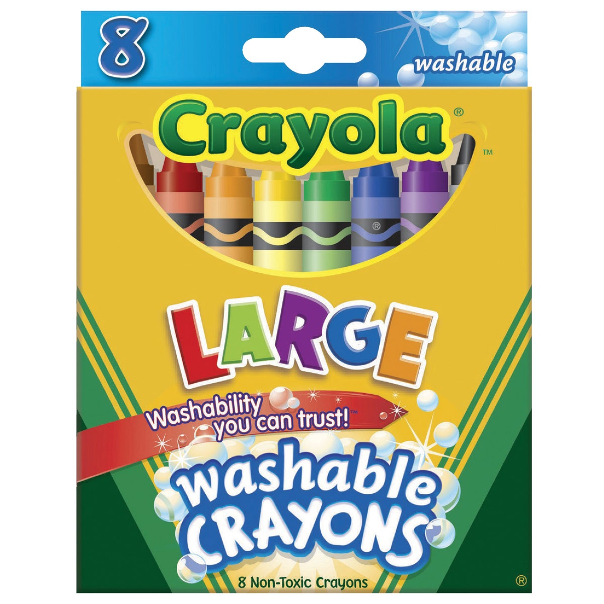 8CT WASHABLE CRAYONS