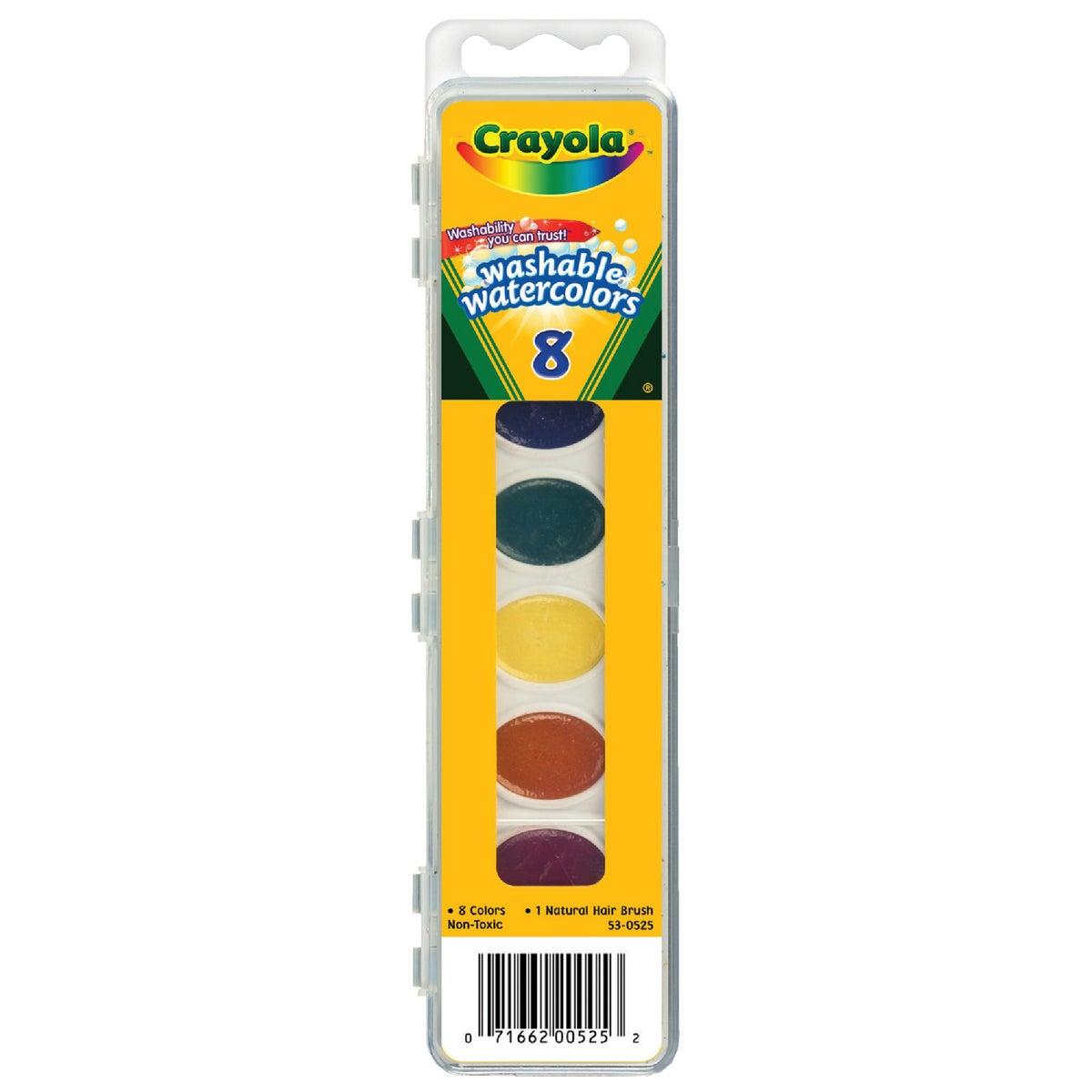 Crayola L L C 8CT WATERCOLORS 53-0525