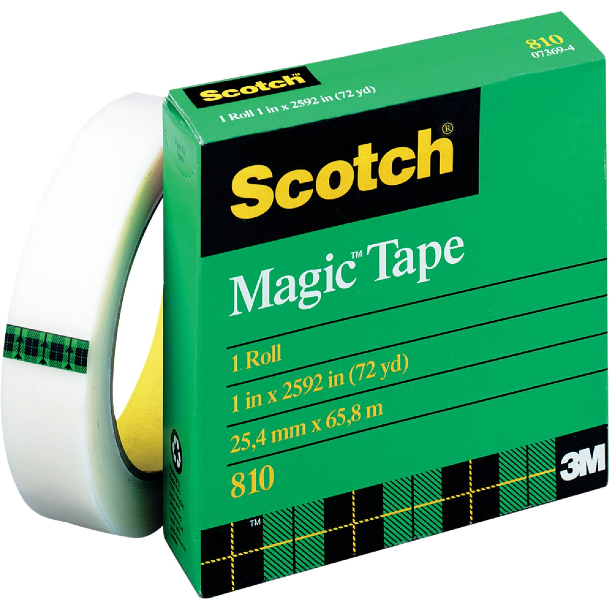 "1""X72YD TRANSPARNT TAPE - 810 by 3m Co"