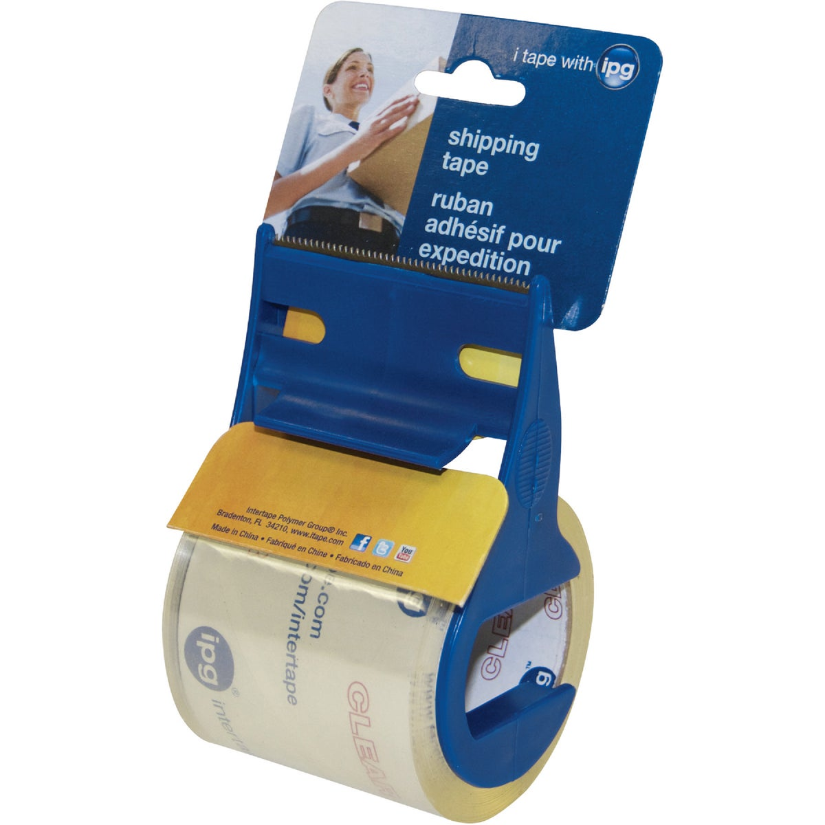 """2""""X17.5YD CLEAR TAPE - 3196 by Intertape Polymer"""