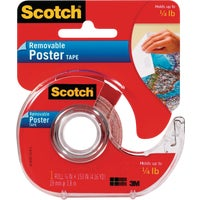 3M Scotch Removable Double-Sided Poster Mounting Tape, 109DC