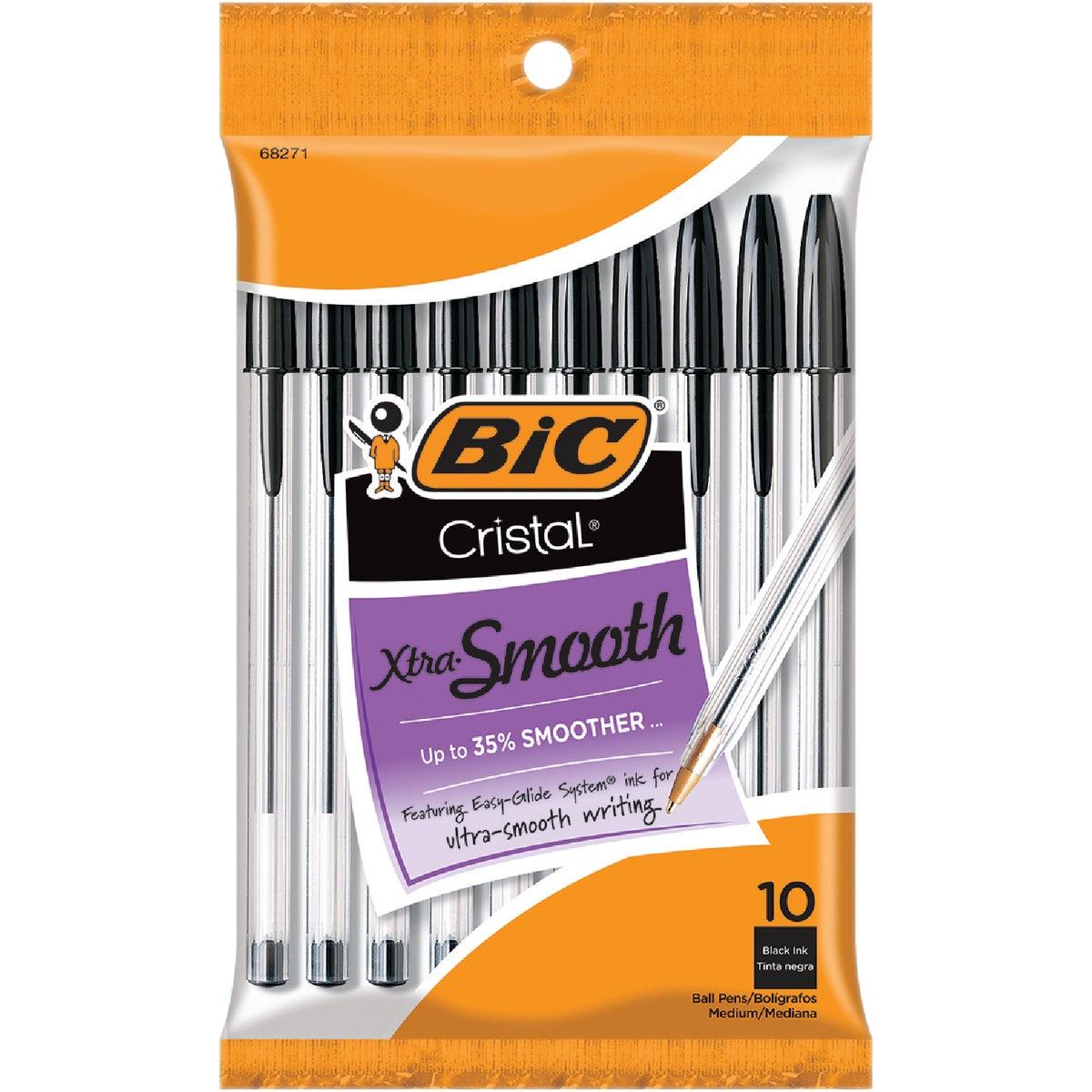 Bic Corporation 10PK BLK CRISTAL PEN MSP10BK