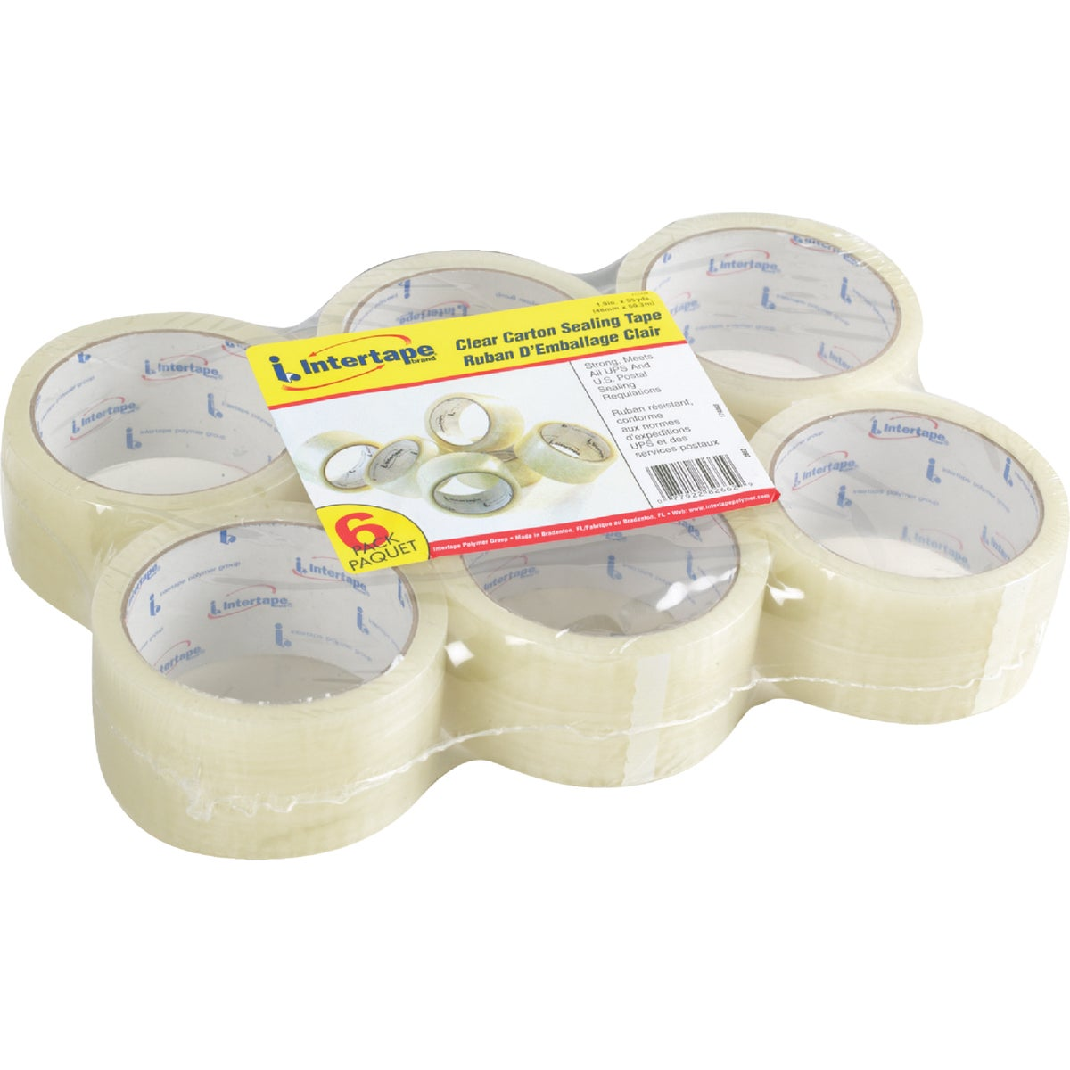 6PK 48MMX55YD CLEAR TAPE - 2662 by Intertape Polymer