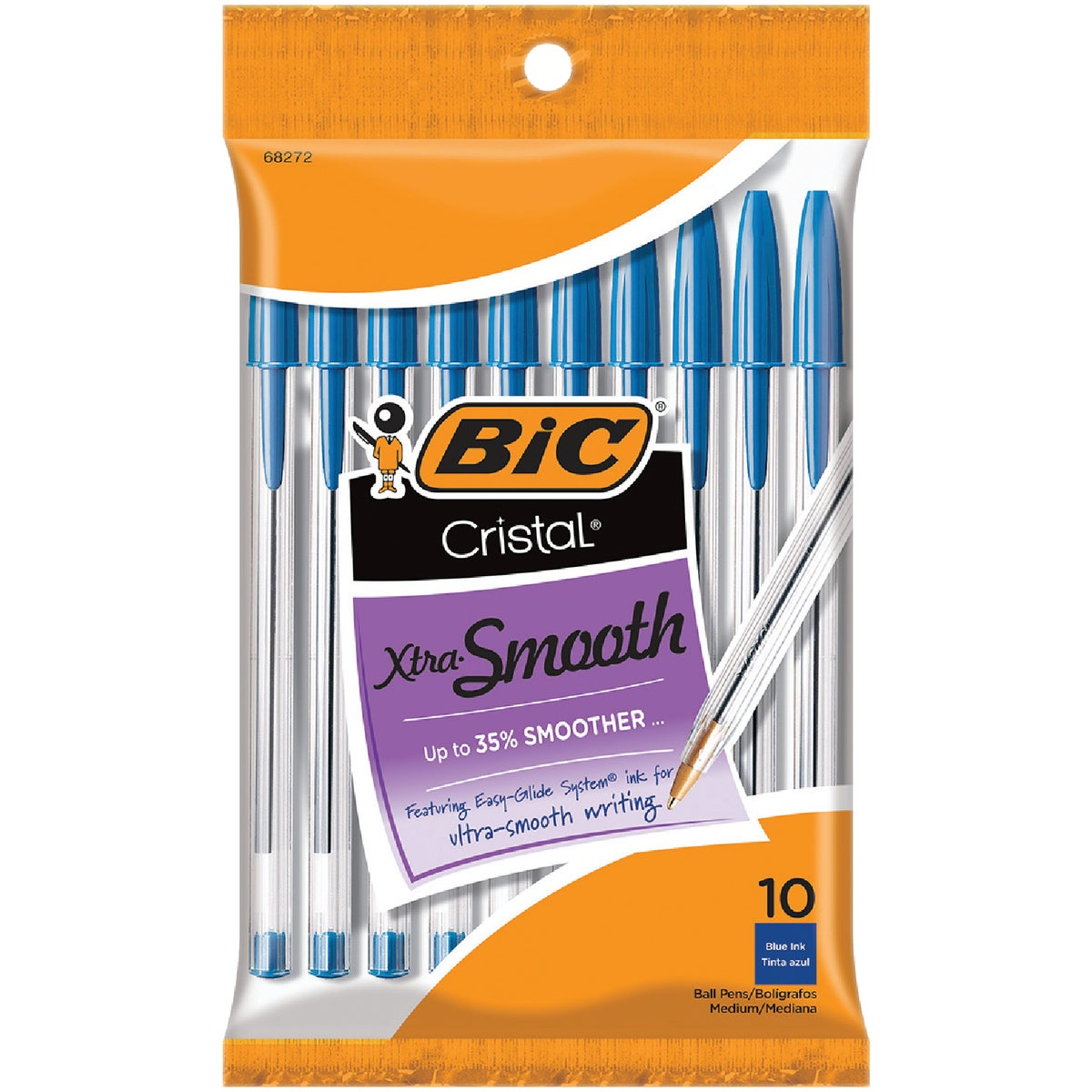 10PK BLUE CRISTAL PEN - MSP101BE by Bic Corporation
