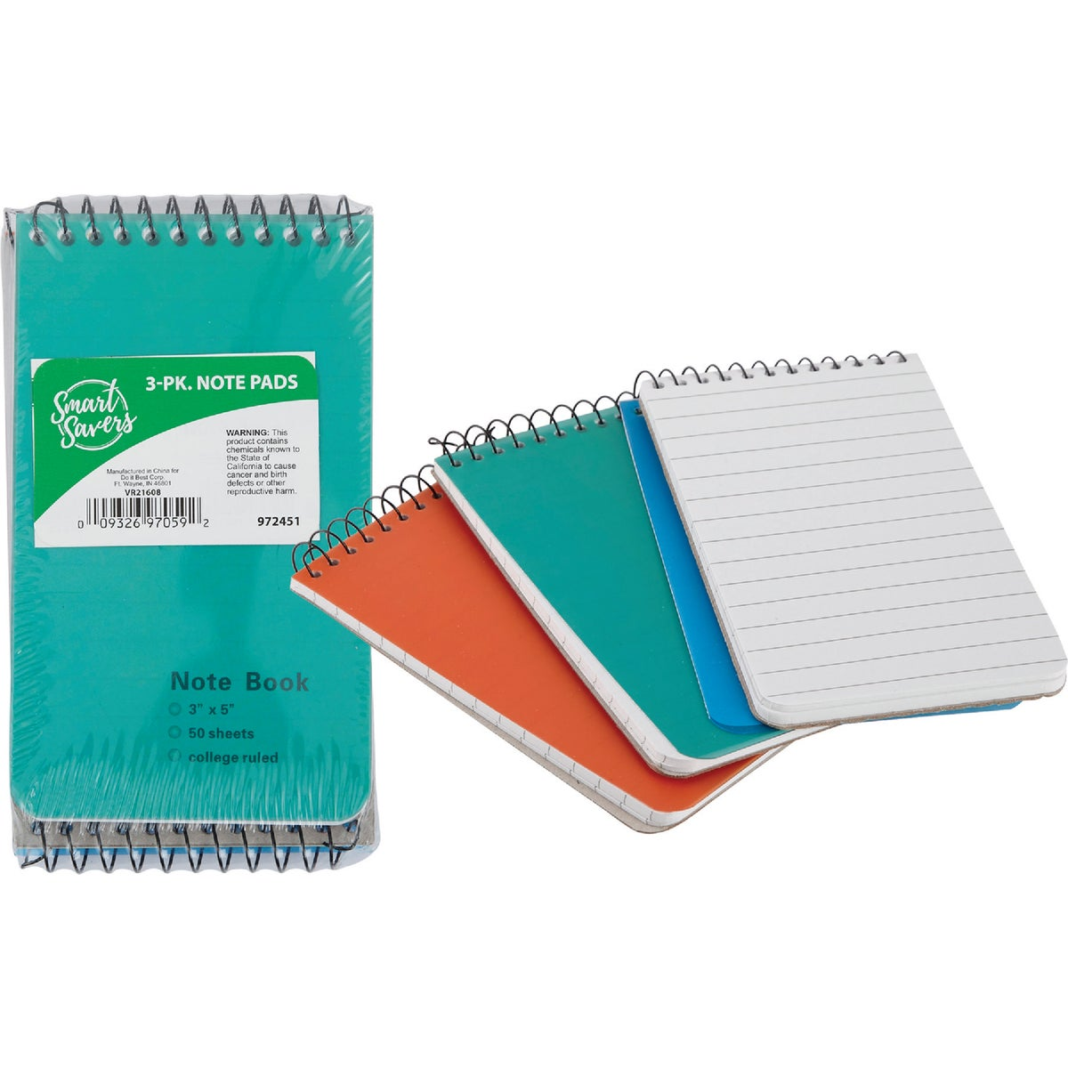 3PK NOTE PADS