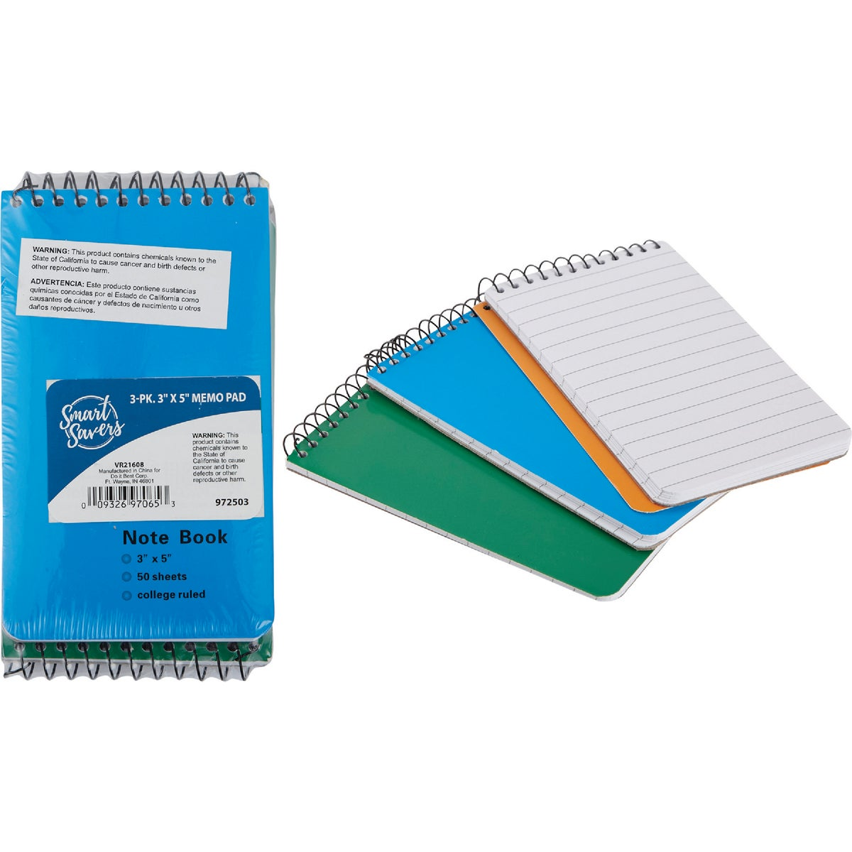 3PK 3X5 MEMO PAD - 10159 by Do it Best