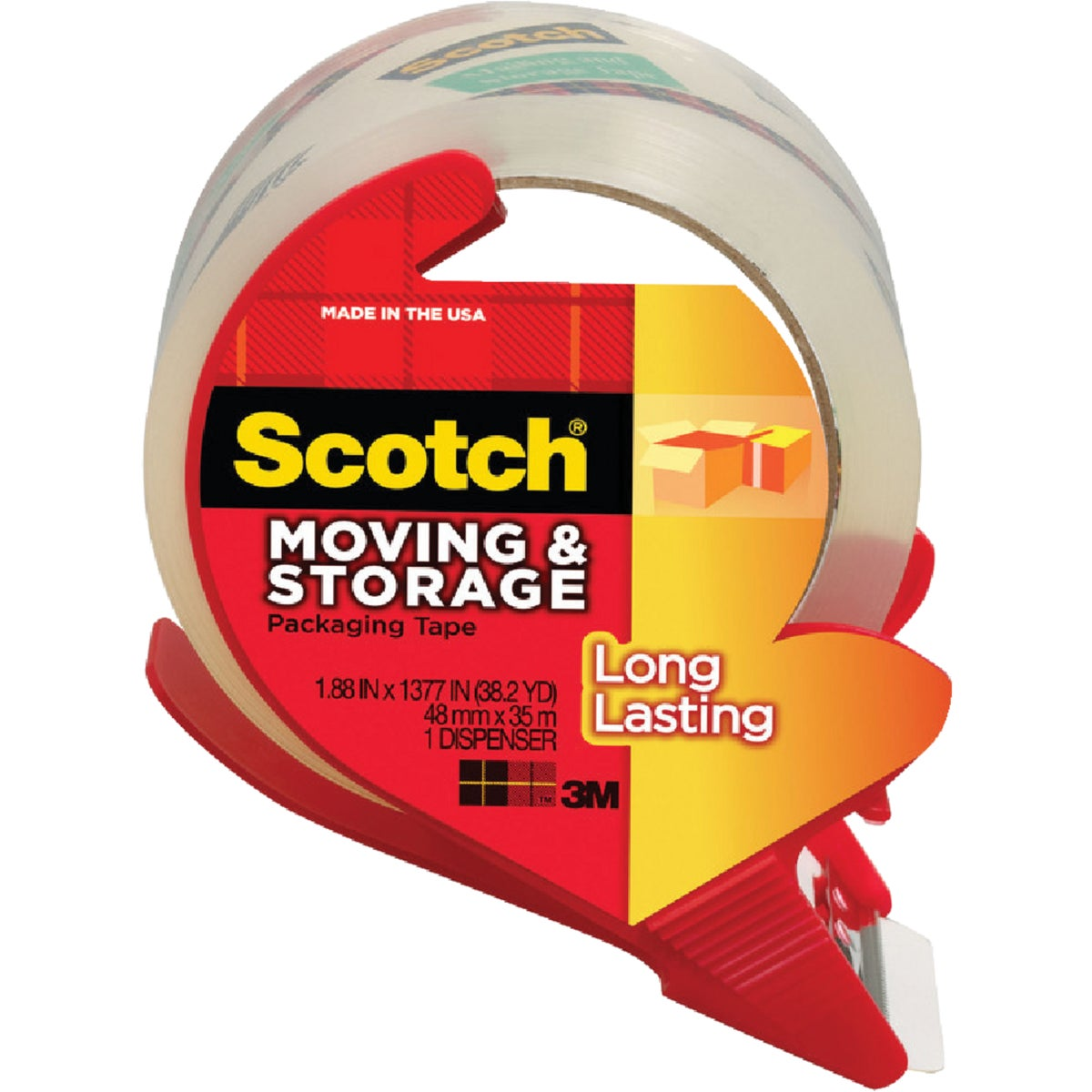"1.88""X38.2YD CLEAR TAPE - 3650S-RD by 3m Co"
