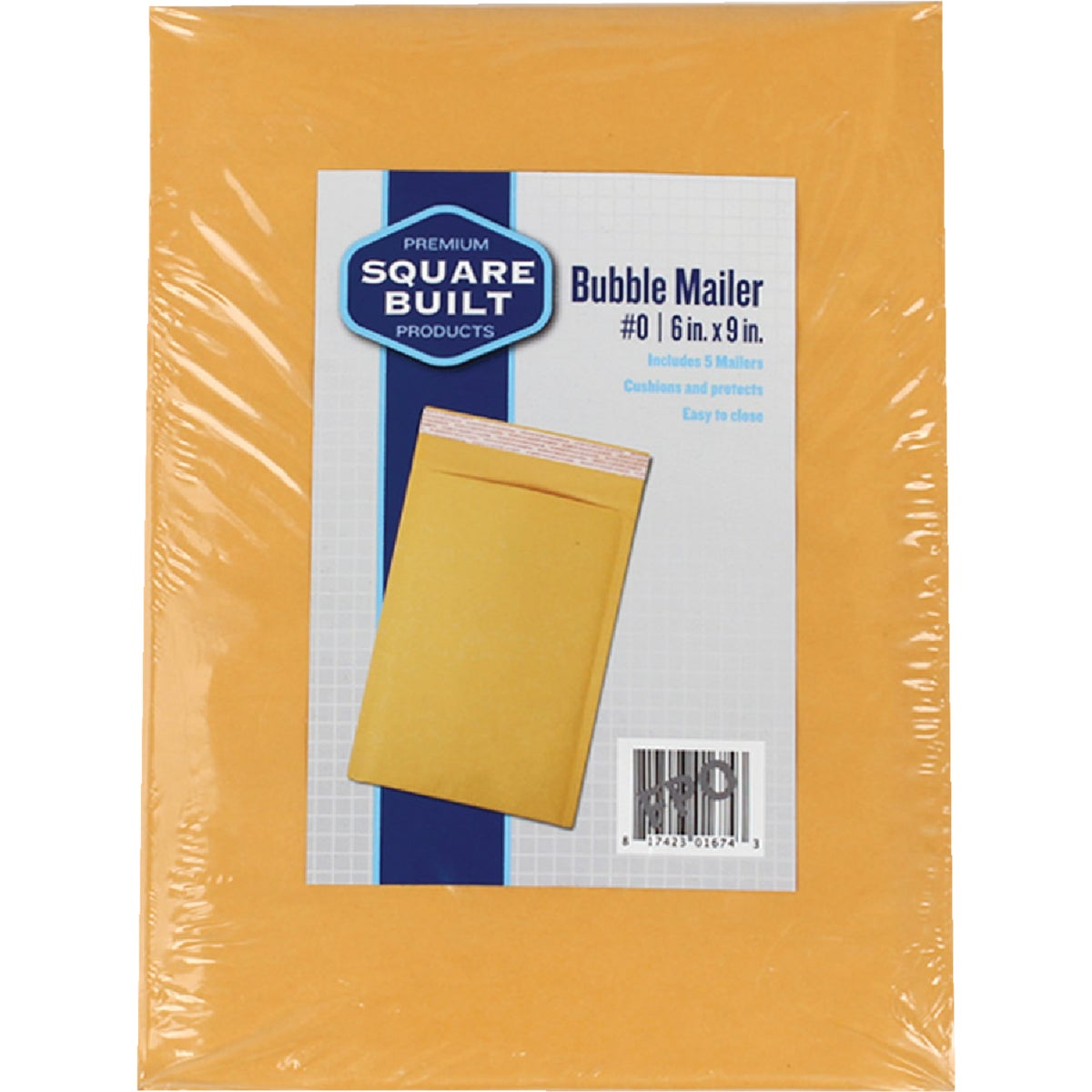 6PK 6X9 BUBBLE MAILER - RBM610-6 by Broadway Industries