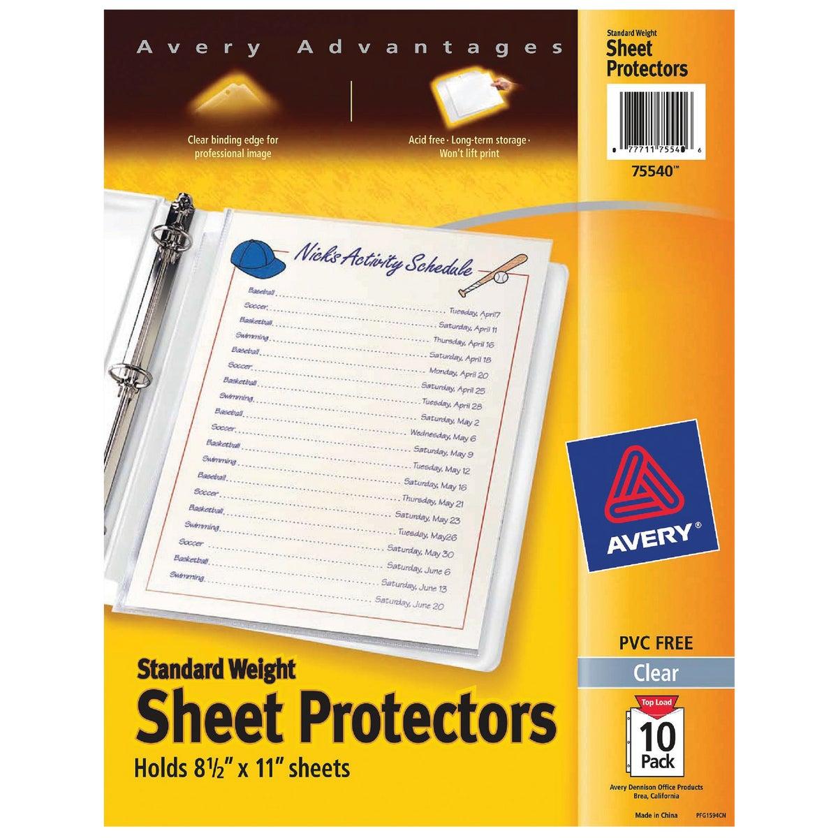 10PK SHEET PROTECTOR