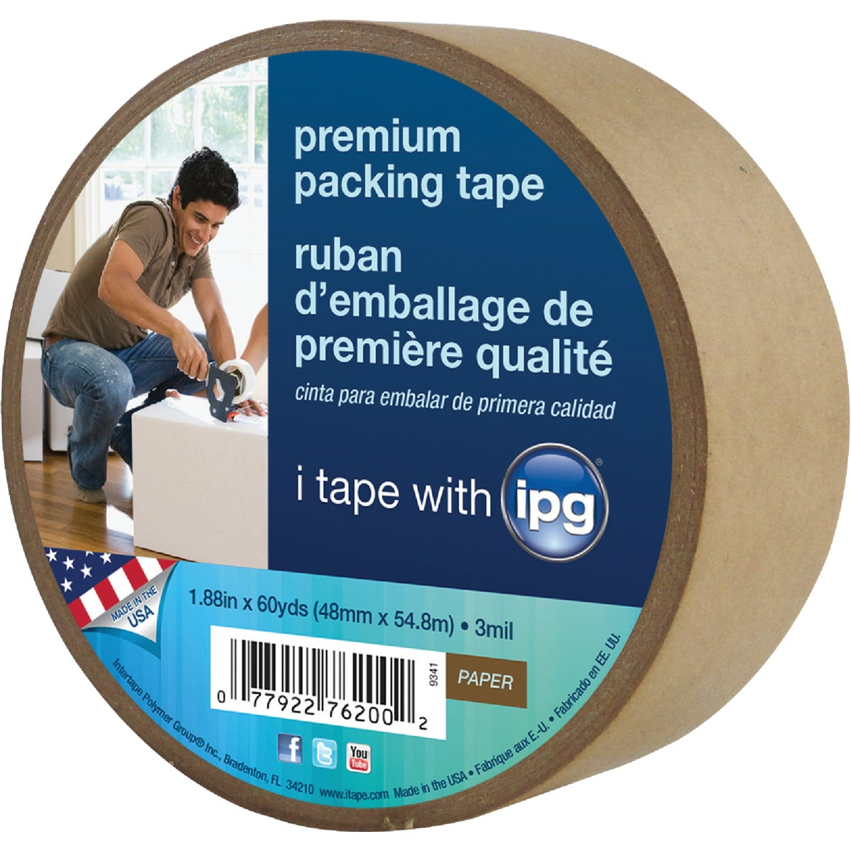 KRAFT FLTBK SEALING TAPE - 9341 by Intertape Polymer