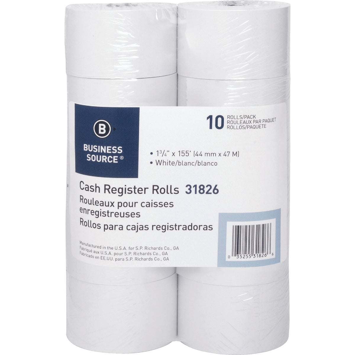 10PK POS ROLL PAPER - UNV35744 by United Stationers