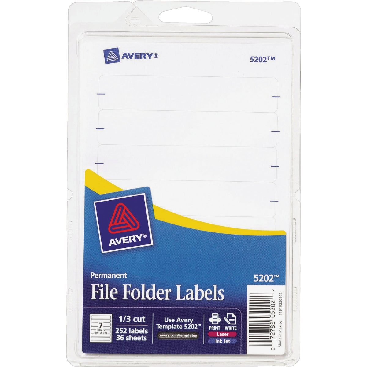 252PK WHT FILING LABEL - 05202 by Avery Dennison
