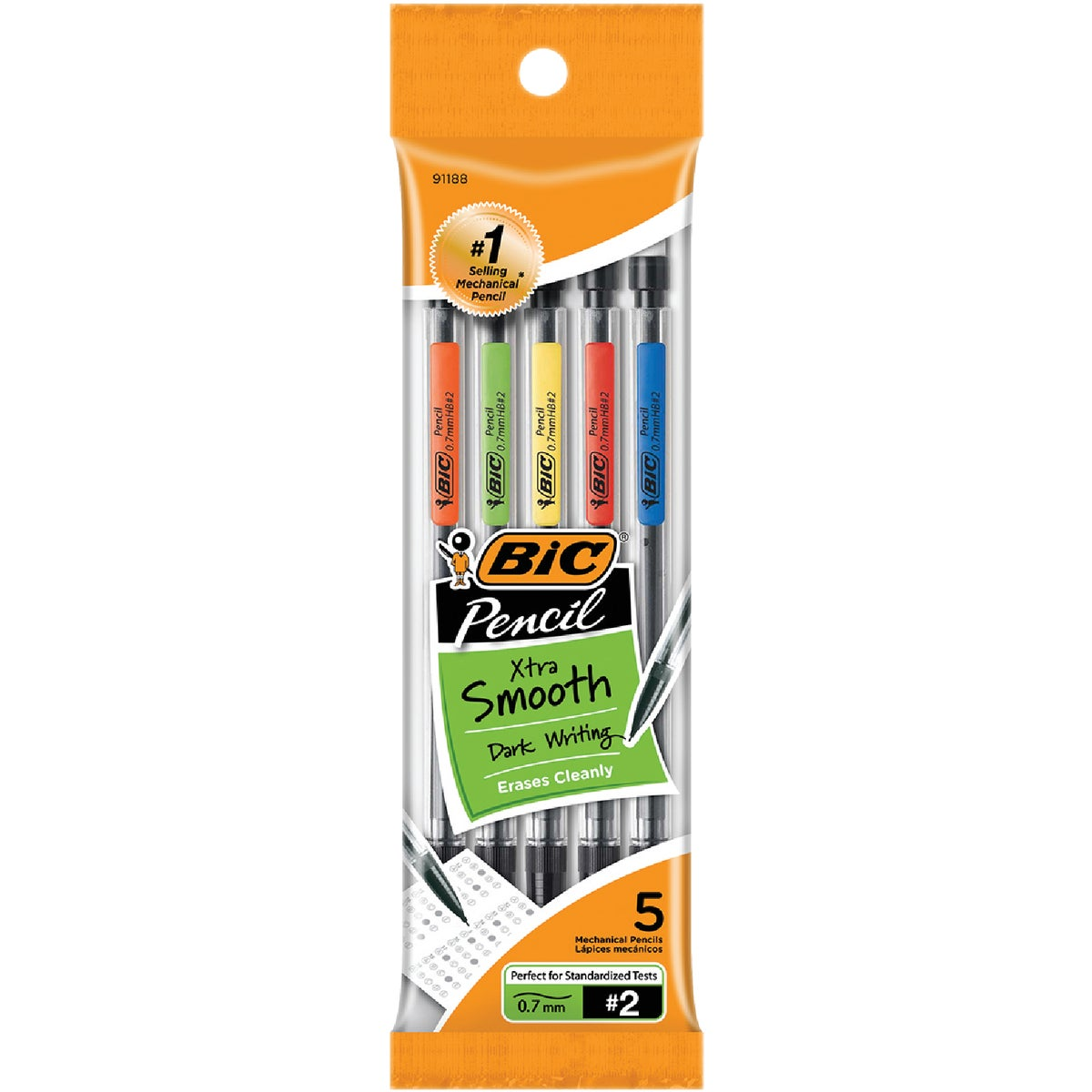 5PK .7MM PENCIL - MPP51BLK by Bic Corporation