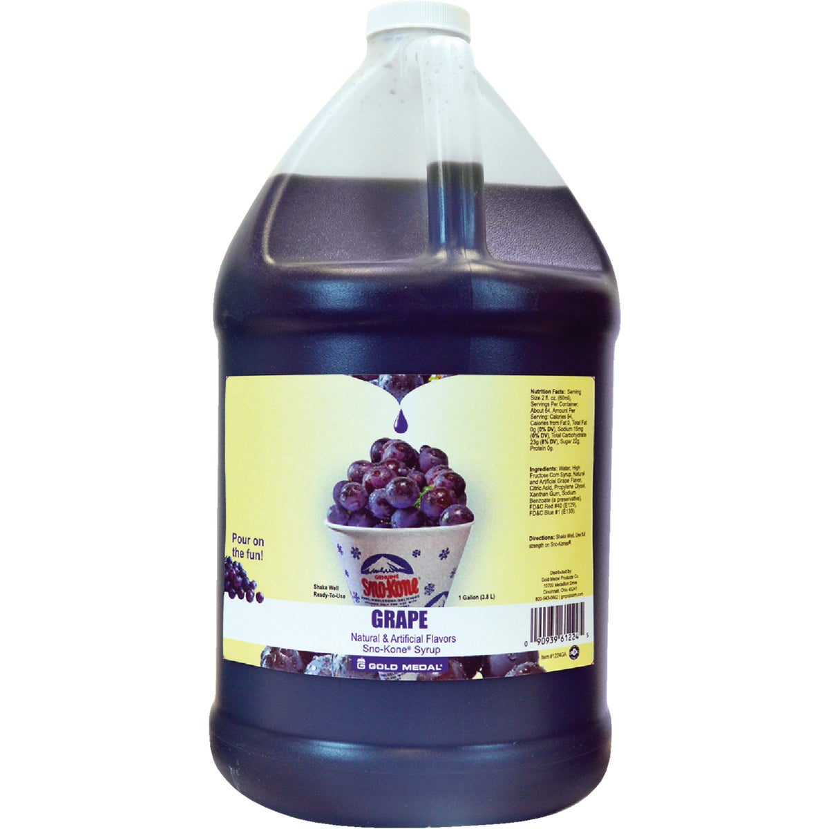 GRAPE SNO-KONE SYRUP - 1224 by Gold Medal Prod/rntl