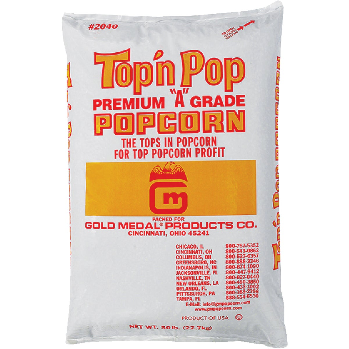 50LB BAG BULK POPCORN - 2040 by Gold Medal Prod/rntl