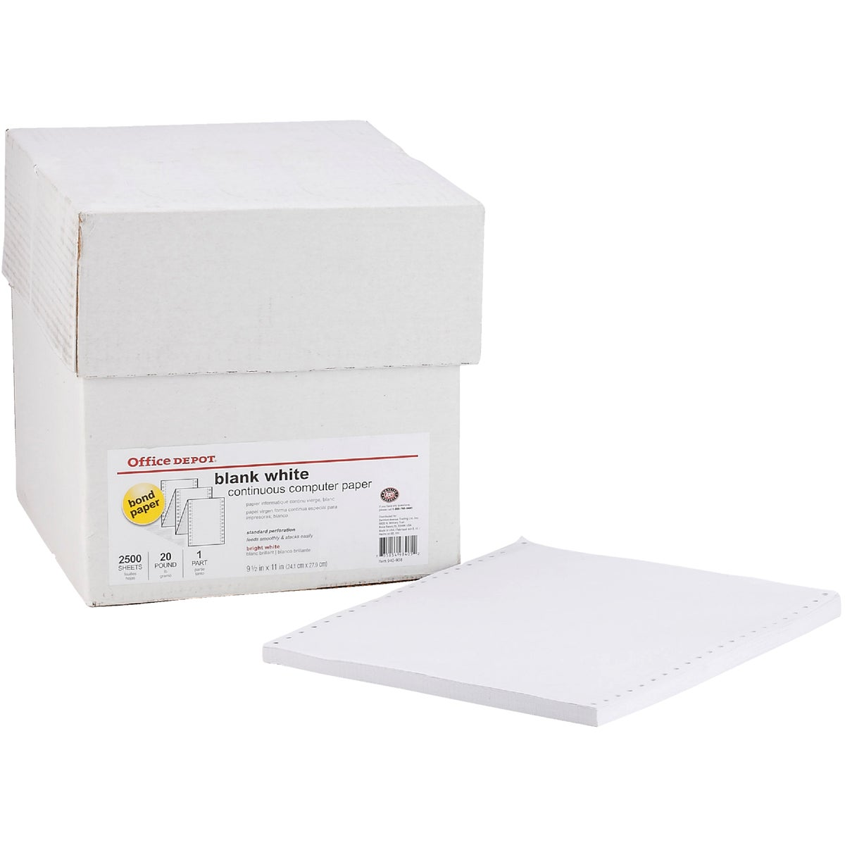 20# BLANK COMPUTER PAPER - 177154 by Staples