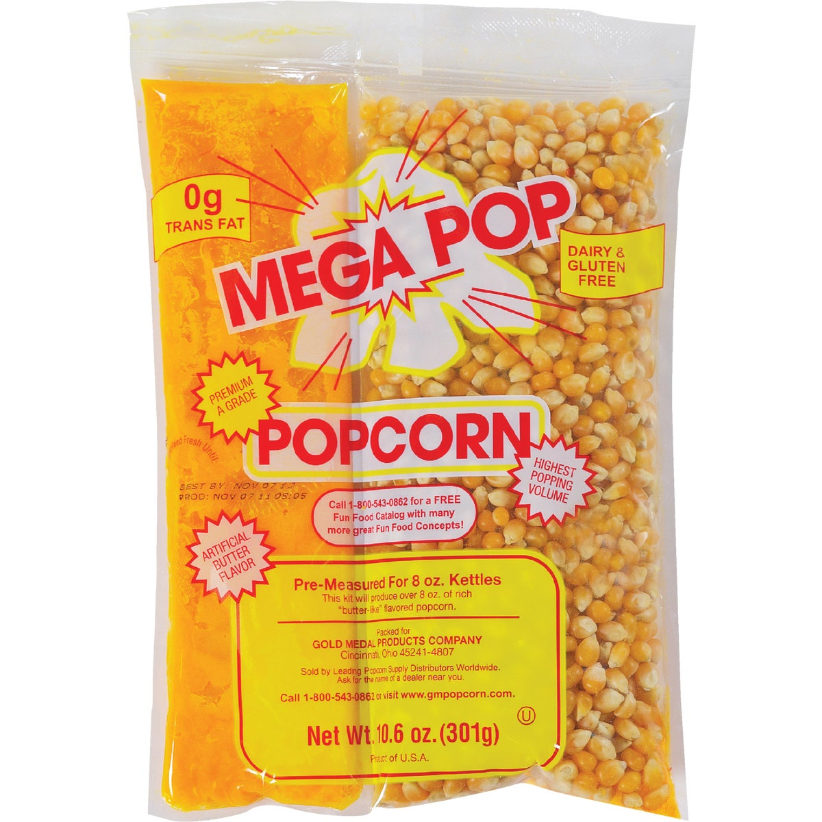 8OZ POPCORN KIT - 2838 by Gold Medal Prod/rntl