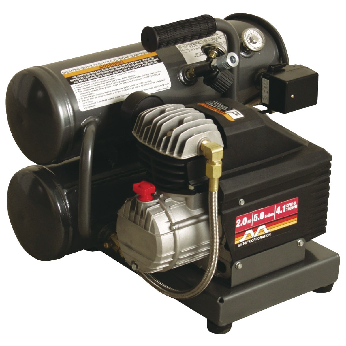 2HP ELEC AIR COMPRESSOR - AC1-HE02-05M1 by Mi T M Corp