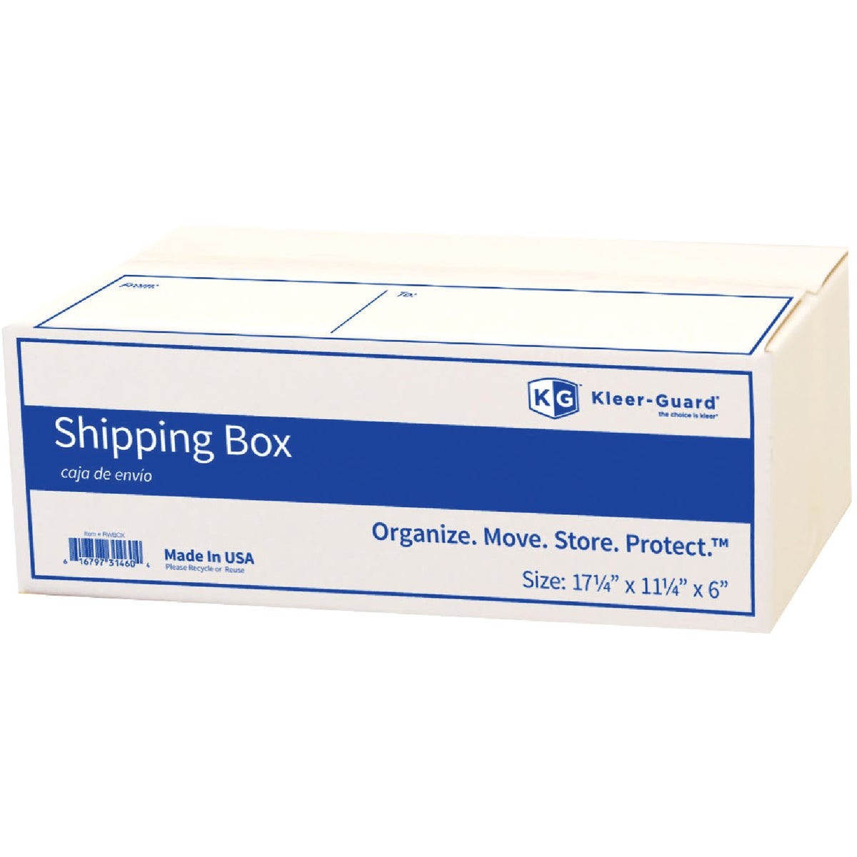 WHITE MAILING BOX - RWBOX by Broadway Industries